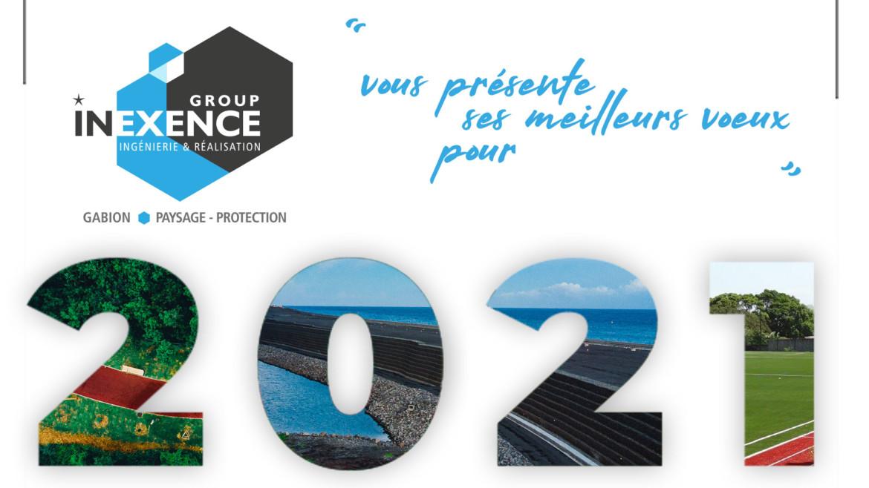 Thierry RENARD et tous les collaborateurs des entreprises de INEXENCE Group vous présentent leurs Meilleurs Vœux pour 2021